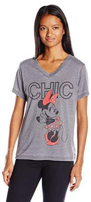 Disney Women's Minnie V-Neck T-Shirt $8.52 thestylecure.com