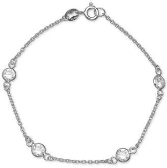 Giani Bernini Cubic Zirconia Station Bracelet in Sterling Silver, Created for Macy's