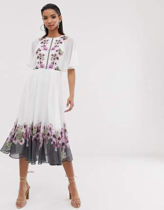 Ted Baker Begoni maxi dress in neopolitan print