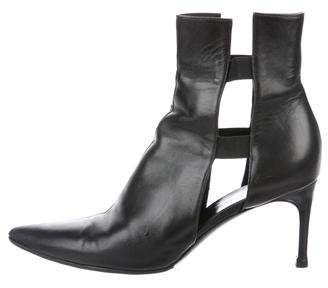 Helmut Lang Leather Ankle Boots