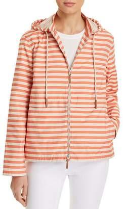 Lafayette 148 New York Joe Striped Rain Jacket