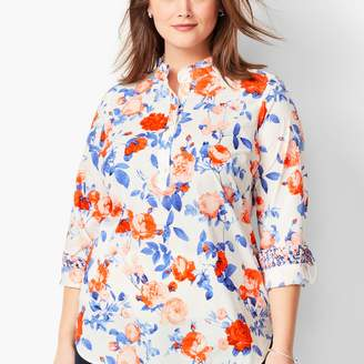 Talbots Ruffle-Neck Popover - Romantic Floral