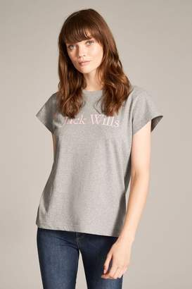 Jack Wills Womens Grey Marl Forstal Boyfriend T-Shirt - Grey