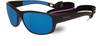 Vuarnet Cup Large Rectangular Active Polarized Sunglasses, Black/Gray-Blue