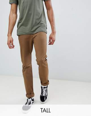 Ted Baker Tall slim fit chinos with pocket detail in camel