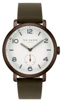 Ted Baker Men's Analog Leather-Strap Watch