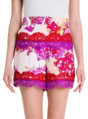 Emilio Pucci Silk Twill Print Shorts