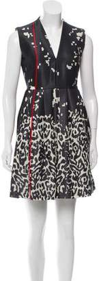 Preen by Thornton Bregazzi Wool Sleeveless Mini Dress