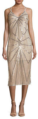 BCBGeneration Sequined Shift Midi Dress