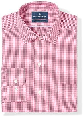 Buttoned Down Men's Classic Fit Gingham & Stripe Non-Iron Dress Shirt
