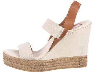 Tory Burch Slingback Canvas Wedges