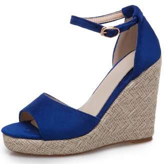 43d28e9c85 Vimisaoi Women's Summer Comfort Espadrilles Platform Strappy High Heel  Wedges Sandals, Ankle Strap Peep Toe
