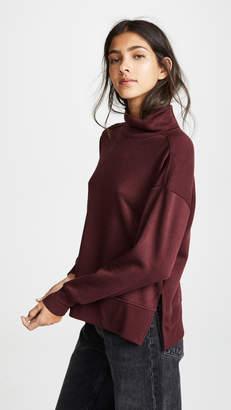 Z Supply Loft Fleece Mock Neck Sweater