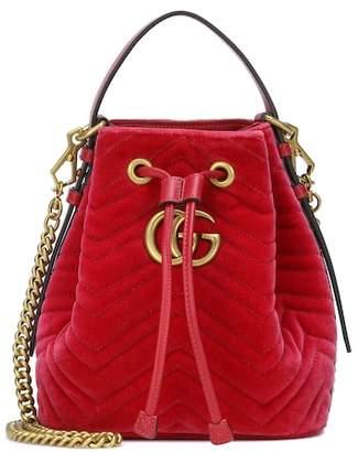 Gucci GG Marmont velvet bucket bag