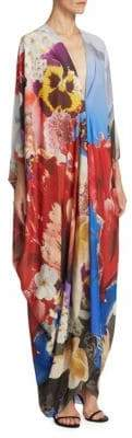 Roberto Cavalli Araki Silk Caftan