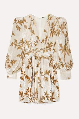 Dodo Bar Or Anatalya Metallic Devoré-velvet Mini Dress - Cream