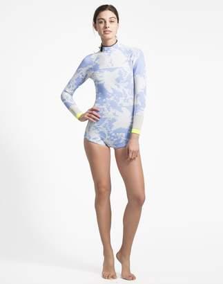 Cynthia Rowley Blue Horizon Print Wetsuit