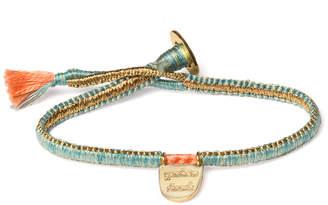 The Brave Collection Women's Woven Cobra Stitch Charm Bracelet
