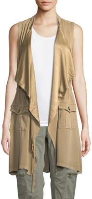 XCVI Slade Silky-Trim Duster Utility Vest