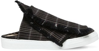 Ports 1961 20mm Layered Check Canvas Mule Sneakers