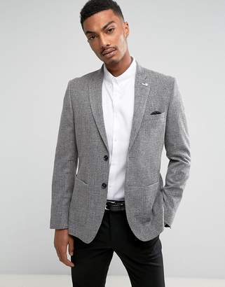 Burton Menswear Slim Fit Blazer In Grey