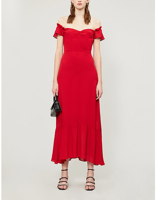 Reformation Butterfly short-sleeved crepe midi dress