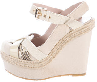 Mulberry Round-Toe Ponyhair Wedges $145 thestylecure.com