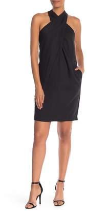 Trina Turk Glencoe Criss-Cross Silk Tie Dress