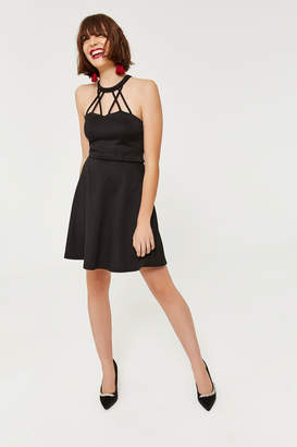 Ardene Ponte Knit High Neck Mini Dress
