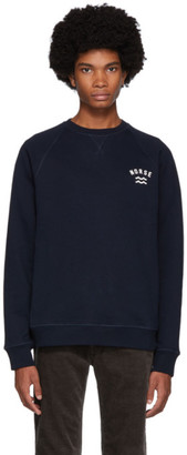 Norse Projects Navy Ketel Ivy Wave Sweatshirt