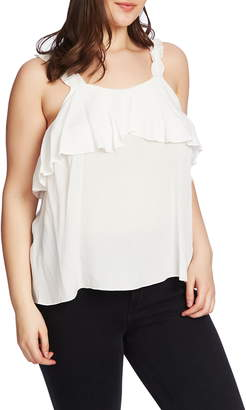 1 STATE 1.STATE Ruched Strap Flounce Edge Camisole