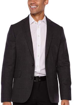 STAFFORD Stafford Merino Wool Stretch Charcoal Dot Slim Fit Sport Coat