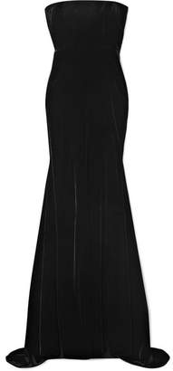 Alex Perry - Sutton Strapless Velvet Gown - Black