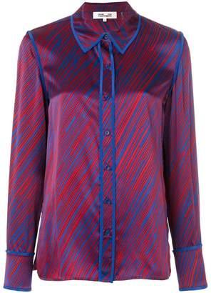 Diane von Furstenberg stripe print shirt