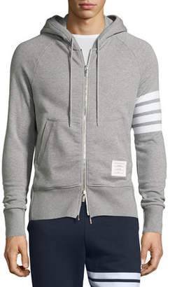 Thom Browne Four-Stripe Hoodie Sweatshirt $725 thestylecure.com