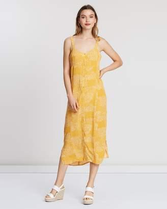 MinkPink Golden Safari Midi Dress