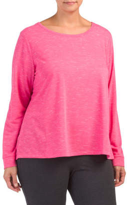 Plus Active Top With Open V Back Detail