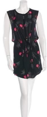 A.L.C. Floral Silk Dress Black Floral Silk Dress