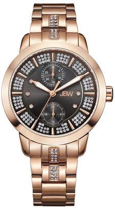 JBW Women Lumen Diamond (1/20 ct.t.w.) 18K Rose Gold Plated Stainless Steel Watch