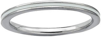 JCPenney FINE JEWELRY Personally Stackable Sterling Silver White Enamel Ring