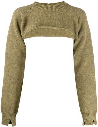Maison Margiela knitted crop top