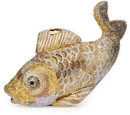 Judith Leiber Couture Koi Fish Crystal Minaudiere, Champagne