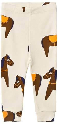 Beige and Yellow Horse Leggings