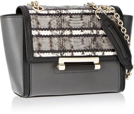 Diane von Furstenberg 440 leather and elaphe shoulder bag