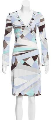Emilio Pucci Printed Jersey Knit Dress