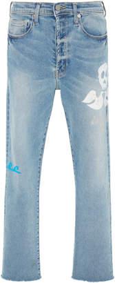 Lost Daze Printed Straight-Leg Jeans