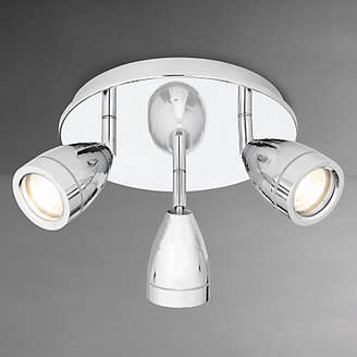 John Lewis & Partners Blake Bathroom Spotlight, Chrome, 3 Light
