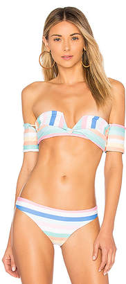 SKYE & staghorn Shoulder Wrap Bikini Top