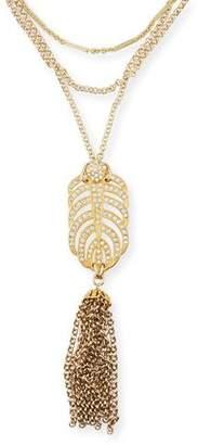 Lulu Frost Drift Crystal Tassel Necklace