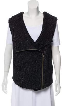 Helmut Lang Merino Wool Zip-Up Vest